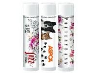 SPF 15 Lip Balm with Vitamin E and Aloe -  Full Color Imprint - 17 Flavors