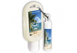 SPF 15 Lip Balm and 1.5 Oz. Bottle SPF 30 Sunscreen Combo on Carabiner