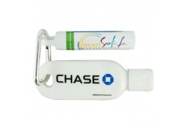 2 Oz. Bottle SPF 30 Sunscreen and SPF 15 lip Balm Tube with Carabiner