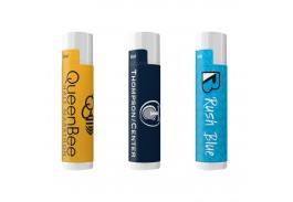 SPF 15 Beeswax Based Lip Balm in White Tube in 30 Flavors