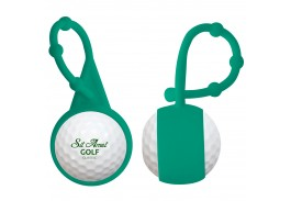 SPF 15 Golf Ball Lip Balm with Silicone Carabiner